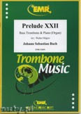 Ok�adka: Bach Johann Sebastian, Prelude XXII BWV 867 - Trombone