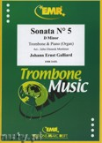Ok�adka: Galliard Johann Ernst, Sonata N� 5 in D minor - Trombone