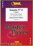 Okładka: Galliard Johann Ernst, Sonata N° 6 in C major - Oboe