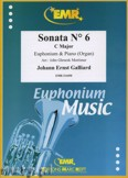 Ok�adka: Galliard Johann Ernst, Sonata N� 6 in C major - Euphonium