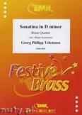 Okładka: Telemann Georg Philipp, Sonatina d-moll  - BRASS ENSAMBLE