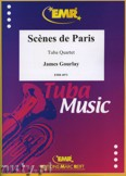 Okładka: Gourlay James, Scenes de Paris for Tuba Quartet