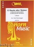 Okładka: Sturzenegger Kurt, 12 Duette Alter Meister - Horn