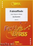 Okładka: Koetsier Jan, Falstaffiade for Solo Tuba and 4 Horns