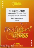 Ok�adka: Sturzenegger Kurt, 31 Easy Duets for Trumpet (Cornet) and Euphonium