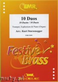 Ok�adka: Sturzenegger Kurt, 10 Duos for Trumpet, Euphonium and Piano (Organ)