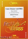 Okładka: Strauss Johann, Unter Donner und Blitz - BRASS ENSAMBLE