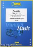 Ok�adka: Bach Johann Sebastian, Sonata in C Major (BWV 31/1) for 3 Trumpets, Timpani and Organ