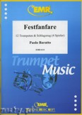Ok�adka: Baratto Paolo, Festfanfare for 12 Trumpets and Percussion