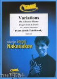 Okładka: Czajkowski Piotr, Variations on a Rococo Theme
