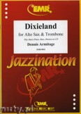 Okładka: Armitage Dennis, Dixieland for Alto Sax and Trombone