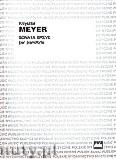 Okładka: Meyer Krzysztof, Sonata Breve per pianoforte