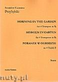 Okładka: Przybylski Bronisław Kazimierz, Poranek w ogrodzie na 4 trąbki B i perkusję