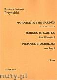 Okładka: Przybylski Bronisław Kazimierz, Poranek w ogrodzie na 4 rogi F i perkusję (partytura + głosy)