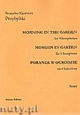 Okładka: Przybylski Bronisław Kazimierz, Poranek w ogrodzie na 4 saksofony i perkusję (partytura + głosy)