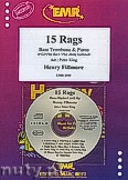 Okładka: Fillmore Henry, 15 Rags + CD - Bass Trombone & CD Playback