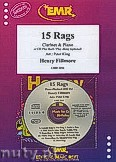 Okładka: Fillmore Henry, 15 Rags + CD - Clarinet & CD Playback