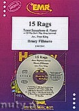 Okładka: Fillmore Henry, 15 Rags + CD - Tenor Saxophone & CD Playback