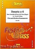 Okładka: Buonamente Giovanni Battista, Sonata a 6 for 2 Trumpets, 2 Horns, 2 Trombones and Piano (Organ)