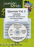 Ok�adka: Mortimer John Glenesk, Quartets Vol. 3 + CD - 4 Clarinets & Piano (Keyboard)