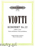 Okładka: Viotti Giovanni Battista, Concerto No. 22 in A minor for Violin and Orchestra