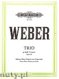 Ok�adka: Weber Carl Maria von, Trio f�r Klavier, Fl�te (oder Violine) und Violoncello g-Moll, op. 63
