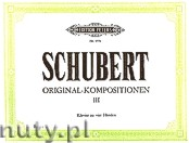 Okładka: Schubert Franz, Original - Kompositionen für Klavier zu vier Händen, Band 3