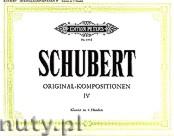 Okładka: Schubert Franz, Original - Kompositionen für Klavier zu vier Händen, Band 4