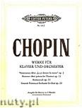 Okładka: Chopin Fryderyk, Werke für Klavier und Orchester op. 2, 13, 14, 22 (Ausgabe für Klavier mit eingezogenem Orchesterpart)