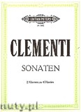 Okładka: Clementi Muzio, 2 Sonatas in b flat, original (2Pf/4h)