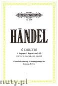 Ok�adka: H�ndel George Friedrich, Brahms Johannes, 6 Duets, HWV: 179, 181, 186, 189, 190, 192