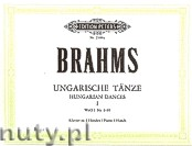 Okładka: Brahms Johannes, Hungarian Dances for Four Hands Piano, WoO 1 No. 1 - 10, Vol. 1