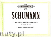 Ok�adka: Schumann Robert, Original Compositions for Piano 4 Hands, Op. 66, 85, 109, 130