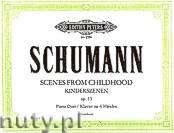 Okładka: Schumann Robert, Scenes From Childhood for Piano 4 Hands, Op. 15