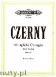 Okładka: Czerny Carl, 40 Tägliche Übungen op. 337