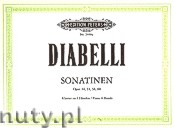 Okładka: Diabelli Antonio, Sonatinen Op. 24, 54, 58, 60