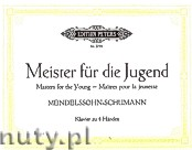 Ok�adka: Mendelssohn-Bartholdy Feliks, Schumann Robert, Masters for the Young for Piano 4 Hands, Vol. 3