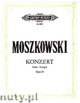 Okładka: Moszkowski Maurycy, Concerto in E Op. 59 for 2 Pianos