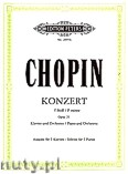 Okładka: Chopin Fryderyk, Concerto No. 2 in F minor Op. 21 for Piano and Orchestra (Edition for 2 Pianos)