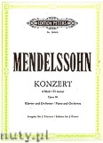 Okładka: Mendelssohn-Bartholdy Feliks, Concerto No. 2 in D minor Op. 40 for Piano and Orchestra (Edition for 2 Pianos)