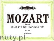Ok�adka: Mozart Wolfgang Amadeus, Serenade in G major, A small Serenade for Piano 4 Hands, K 525