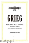 Ok�adka: Grieg Edward, Selected Songs for Voice and Piano