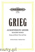 Ok�adka: Grieg Edward, Selected Songs for Voice and Piano (Medium Voice)