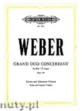 Okładka: Weber Carl Maria von, Grand Duo Concertant in E flat major for Piano and Clarinet (Violin), Op. 48