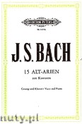 Ok�adka: Bach Johann Sebastian, 15 Alto Arias from Cantatas for Voice and Piano, Vol. 2