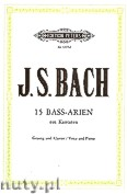 Ok�adka: Bach Johann Sebastian, 15 Bass Arias from Cantatas for Voice and Piano