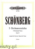 Ok�adka: Sch�nberg Arnold, 5 Orchestral Pieces Op. 16 for 2 Pianos