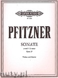 Ok�adka: Pfitzner Hans, Sonata in E minor Op. 27