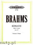 Okładka: Brahms Johannes, Sonata in F minor Op.34 bis for two Pianos