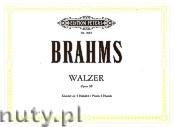 Ok�adka: Brahms Johannes, Waltzes Op. 39 for Piano - 4 Hands